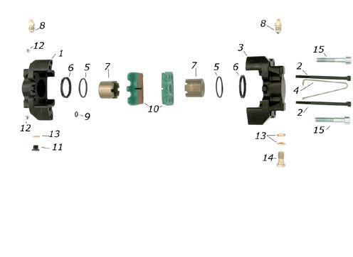 Rep.Satz für Bremssattel CRG VEN05 hinten (2x Pos.5,6 u.7)