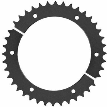 Kettenrad 428 geteilt Aluminium (schwarz)
