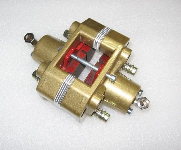 Bremszange hydraulisch gold inkl. Bremsbeläge