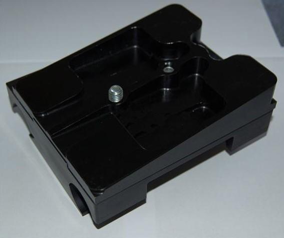 Motorbock geteilt Aluminium schwarz für 32/92mm mit Klammern