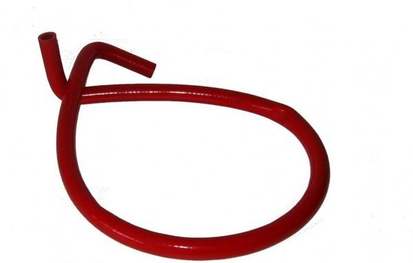Wasserschlauch mit 2 Winkeln Silikon 1,2 m rot