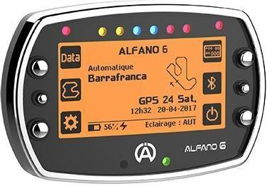 ALFANO 6 Datenerfassungsgerät mit GPS, Drehzahlmesserkabel, Lade