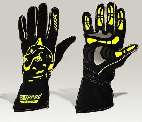 Speed Handschuhe Melbourne G-2 schwarz-neongelb