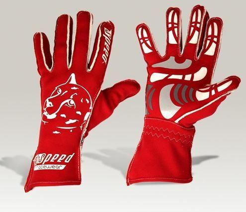 Speed Handschuhe Melbourne G-2 rot-weiß