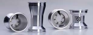Satz Felgen 120/210 Schalter Aluminium