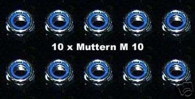 10 Stück Muttern M 10 selbstsichernd