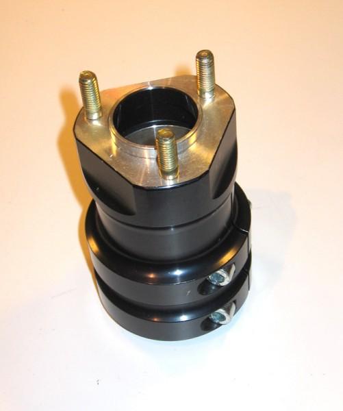 Radstern hinten 50x120 Aluminium schwarz