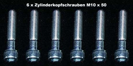 6 Stück Zylinderkopfschrauben Innensechskant M 10 x 50
