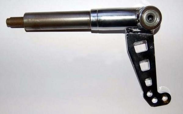 Achsschenkel links Ø25mm Zapfen/10,5°/Ø8mm Bolzen/hart TOP-Kart