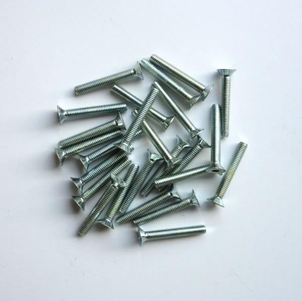25 Stück Senkkopfschrauben Innensechskant M 6 x 40