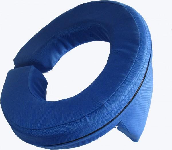 Nackenstütze Spezial mit Aufprallschutz blau