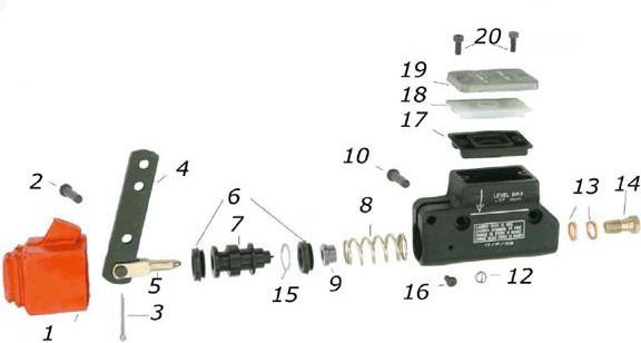 Simmering für Hauptbremszylinder CRG VEN04/05 (Pos.6)
