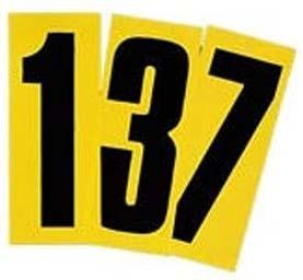 Startnummer schwarz/gelb