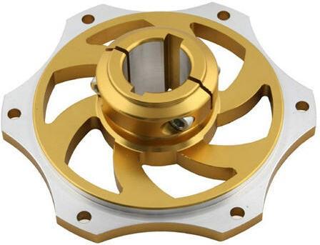 Kettenradträger Ø30mm Alu Gold